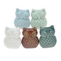 Vintage Ceramic Owl Cabinet Drawer Knob Pull Cupboard Handle Home Hardware 1 Pc