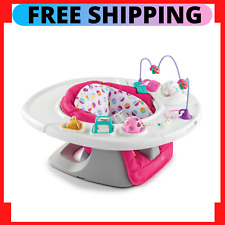 Baby Super Seat Pink 4-In-1Infant Chair For Sitting 360 Deg Play Activity Table