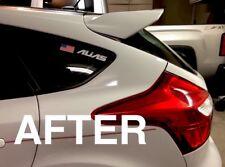 DIY Poor Man 13-Up Ford Focus ST Hatchback BLACK Rear Wing Spoiler Riser Kit
