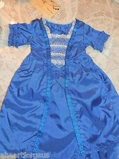 American Girl FELICITY CHRISTMAS GOWN STOMACHER Ruffles Lace BLUE RETIRED '10 EC