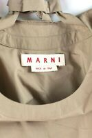Marni Womens Size 42 Medium US 6 Tan Brown Tank Top Cotton Front Pocket Designer