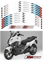 """MOTORCYCLE RIM """"15 STRIPES WHEEL DECALS TAPE STICKERS FOR BMW C650 Sport"""