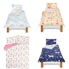 Duvet Cover Set Bedding Single Double Women's Girls Bedroom Unicorn Rainbows