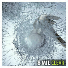 Clear Safety Security Film 8 mil Window Glass Protective Film Splash Prevention