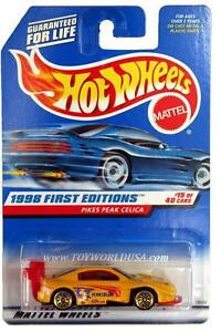 1998 Hot Wheels #652 First Edition #15 Pikes Peak Celica (purple tampo)