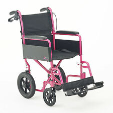 CareCo Aspire Folding PortableTransit Puncture Proof Wheelchair Travel Chair