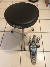 Tama Drum Throne/Seat And TAMA Iron Cobra 200 Base Drum Pedal.