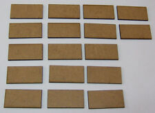 2mm MDF bases 40mm x 20mm pack of 17 for DBMM, FOG or DBA