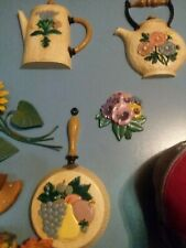 Vintage 6 Piece Homco Kitchen Wall Grouping