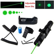 Adjustable 1mW Green Laser Sight Picatinny 20mm 532nm+Battery+Charger+Switches