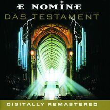 E NOMINE 'DAS TESTAMENT' CD REMASTERED NEW+