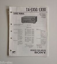 Schema SONY - Service Manual Integrated Stereo Amplifier TA-EX50 TA-EX90