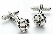 Silver Knot Formal Dress Cufflinks NEW Cuff LInks 9709