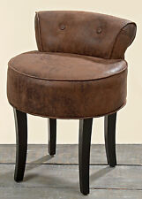 FANCY STOOL / CHAIR 'ETON' BROWN 58cm HEIGHT FAUX LEATHER Chair LOUNGE