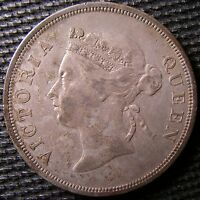 STRAITS SETTLEMENTS    Victoria   Queen  50 CENTS SILVER COIN 1894