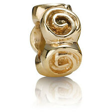 PANDORA | 14K GOLD ROSES SPACER 750120 *NEW* Authentic RETIRED RARE 585 ALE USA
