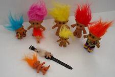 vintage troll doll lot forest troll, roller blader, troll key chain, troll watch