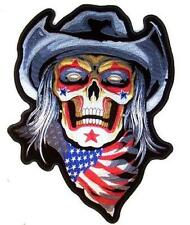 JUMBO EMBROIDERED USA COWBOY RODEO CLOWN SKELETON JBP061 12 INCHES sew iron back