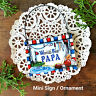 DECO Mini Sign World's Best  PAPA Gift Wood Ornament All men family members USA