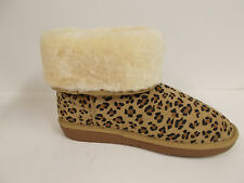 PIKA Women's Classic Short Leopard Print Suede Boot