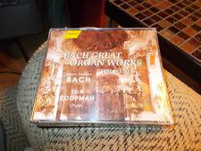 TOM KOOPMAN 2 DISC CD BOX SET BACH GREAT ORGAN WORKS BRAND NEW SEALED