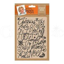 "SALE New Leonie Pujol Embossing Folder 5x7"" Christmas Scribbley Wishes"