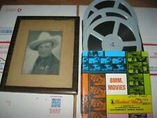 """Tom Mix Original Collectables, 9x11 matted photo, 8mm """"just tony"""" print, clips"""