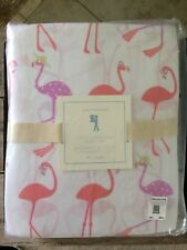 NWT Pottery Barn Kids COCO FLAMINGO TWIN Sheet Set TROPICAL Coral & Orchid🌺