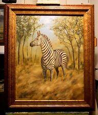 AFRICAN ZEBRA, original oil painting by Richard R. Nervig