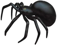 LARGE SPIDER 91CM INFLATABLE BLOW UP BLACK HALLOWEEN HUGE PARTY PROP DECORATION