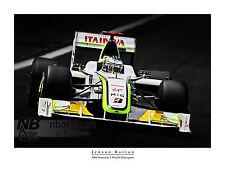 Jenson Button 2009 F1 campeón del mundo de Impresión Arte Digital
