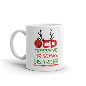 Obsessive Christmas Disorder Mug Secret Santa OCD Funny Xmas