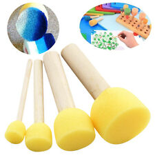 4Pcs Wooden Handle Stencil Sponge Foam Brush Furniture Craft Art Painting Tool