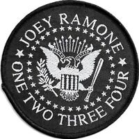 Official Merch Woven Sew-on PATCH Punk Rock RAMONES (loose) Joey Ramone Seal