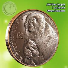 Year of the Monkey 2016 1 oz .999 Copper Round