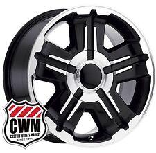 """(1) 18x8"""" OE Performance 173BM Chevy Silverado Black Machined Wheel Rim 6x5.50"""""""