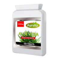 Aloe Vera High Strength 6000mg Tablets Healthy Skin Hair Colon Detox Pills UK