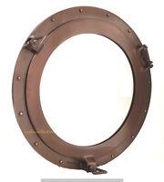 """Copper Finish Brass Porthole Mirror~Nautical Ship Cabin Boat Porthole Window 20"""""""