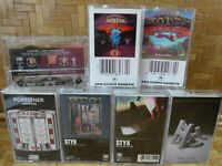 Cassette Tape Lot STYX FOREIGNER Records BOSTON REO SPEEDWAGON The Hits x7