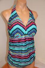 NWT Profile by Gottex Swimsuit Tankini Bikini Top  Plus Size 16W Multi Halter