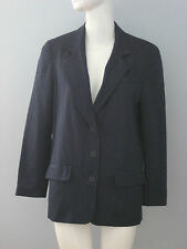 COLOUR EIGHTEEN Size 2 Blue 100% Wool Fully Lined Long Sleeve Blazer
