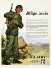 1951 US Army soldier art All Right Let's Go Korean War recruit new poster 18x24