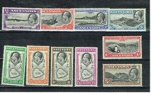 ASCENSION - 1934 KGV SG 21/30 VERY FINE LIGHTLY HINGED MINT SET
