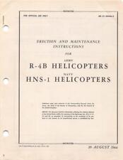 1944 AAF SIKORSKY R-4B HOVERFLY HELICOPTER ERECTION MAINTENANCE FLIGHT MANUAL-CD