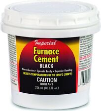 NEW IMPERIAL KK0077-A 8OZ BOTTLE BLACK HIGH HEAT STOVE FURNACE CEMENT 5385463