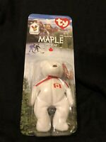 Maple the Bear Ty Teenie Beanie Baby NIB ERRORS 1996 McDonald's RARE Retired