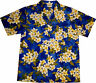 Camisa Hawaiiana Hawaiana / M - 6XL / 100% poliéster / Hawai Hawaii flores playa