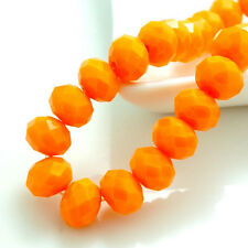 New Orange jade Faceted 100pcs Chinese Rondelle exquisite crystal 3x2mm Beads!