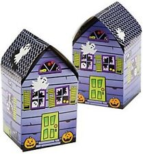 Pack of 6 - Haunted House Favor Boxes  - Halloween Gifts