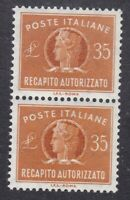 Italy 1974 Concessional Letter Post - 35L Brown Pair - SG CL918 - MNH (D16G)